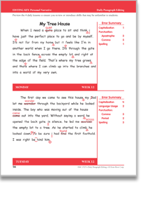 Paragraph editing worksheets 4th grade