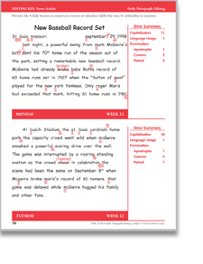 Printables Daily Edit Worksheets 3rd grade daily edit worksheets for education editing and proofreading grade