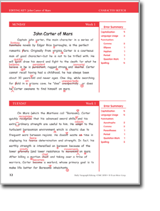 Printables Paragraph Editing Worksheets week 13 saving our heritage daily paragraph editing 01 john carter of mars editing