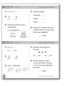 Daily Math Practice (Grade 2, Week 16)