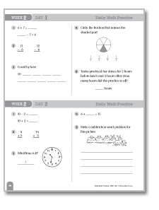 Daily Math Practice, Grade 3: Week 28